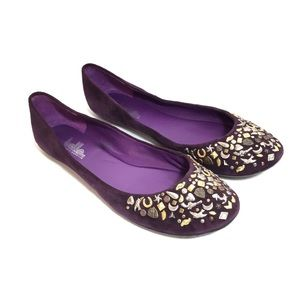 Belle by Sigerson Morrison Purple Suede Flats